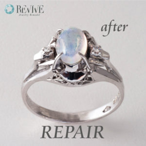 ムーンストーン 指輪 修理
