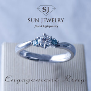 婚約指輪 ブルーダイヤ