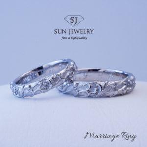 結婚指輪 クロムハーツ風 マリッジリング